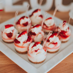 Strawberry cheesecake shots | Annie's Cakes baker in Edmonton, AB